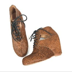 80%20 leather spotted hidde wedge booties